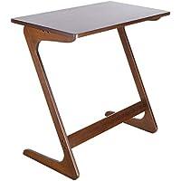 Homfa Mesa para sofá Mesa Auxiliar Mesa de bambú para Ordenador Mesa de café Mesa de