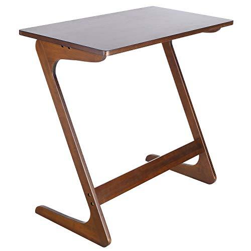 Homfa Mesa para sofá Mesa Auxiliar Mesa de bambú para Ordenador Mesa de café Mesa de Escritorio Mesa para Ordenador (Castaña)