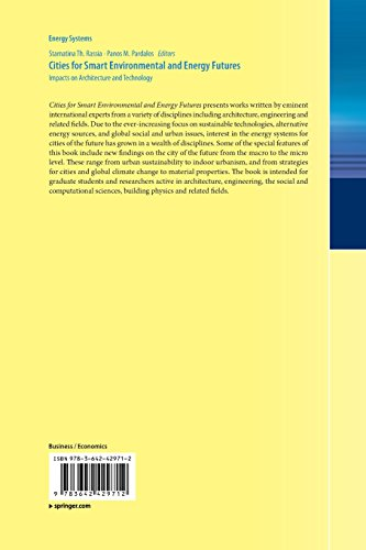 Cities for Smart Environmental and Energy Futures: Impacts on Architecture and Technology (Energy Systems)
