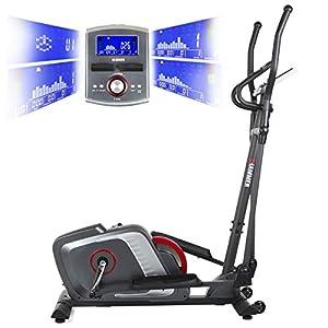 HAMMER Premium Crosstrainer Cross-Motion BT – APP Steuerung für Smartphone – Bluetooth Anbindung – 22 Trainingsprogramme – 4 Herzprogramme – Ellipsentrainer – Ergometer – 20 kg Schwungmasse