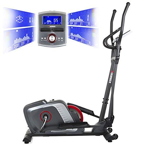 HAMMER Premium Crosstrainer Cross-Motion BT – APP Steuerung für Smartphone - Bluetooth Anbindung - 22 Trainingsprogramme - 4 Herzprogramme - Ellipsentrainer - Ergometer - 20 kg Schwungmasse