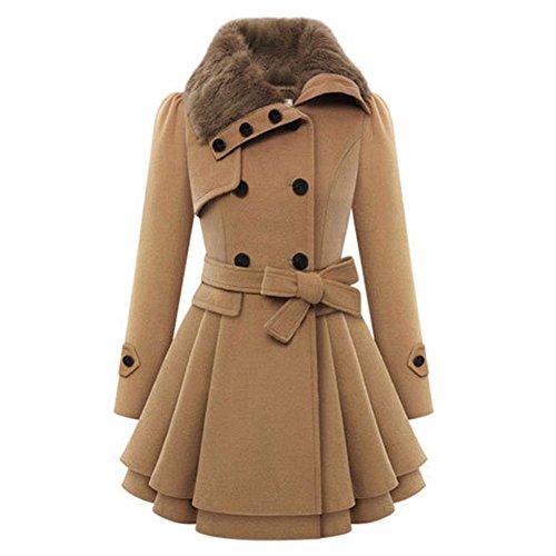 ROPALIA Donna inverno caldo cappotto pesante parka soprabito lungo Outwear