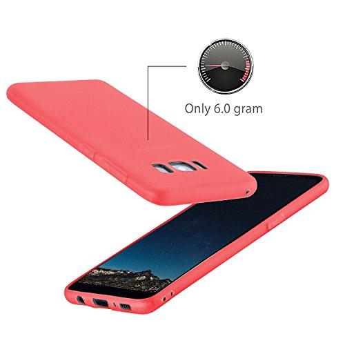 MyGadget Hülle für Samsung Galaxy S8 (2017) - TPU Crystal Case klar Schutzhülle - Backcover slim Handyhülle Silikon Cover dünne Silikonhülle - Transparent TPU Pink
