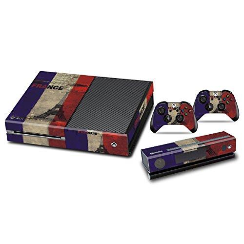 Jeux Xbox One Peaux Console Xbox One Vinyle Autocollants Accessoire Xbox One + Deux Décalcomanies Pour les Dualshock Controleurs - French Flag