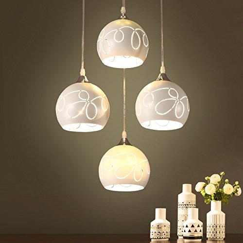 BESPD Einfache moderne LED-Restaurant Schlafzimmer Nordic kreative Kronleuchter Swan Drei runde Schale 9 Wled-Bubble senden -