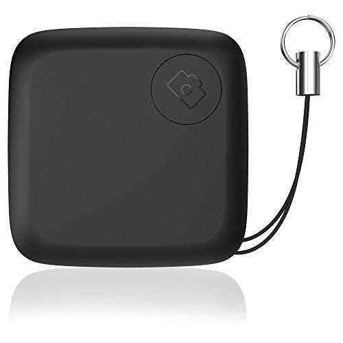Gvoo Schlüsselfinder, Bluetooth 4.0 Key Finder Sachen Finder GPS Tracker Fernbedinung des Handykameras per App für Android und iOS - Schwarz