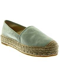 f71703f7c Angkorly Women's Fashion Shoes Espadrilles - Slip-on - Cord Block Heel 3.5  cm