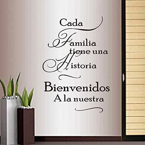 Spanisch familie s aufkleber für jede familie haben eine geschichte vinyl wandaufkleber wand poster dekoration haus dekoration 40X63 CM
