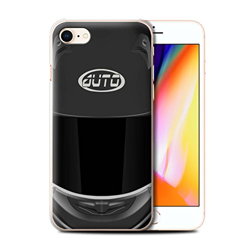 Coque de Stuff4 / Coque pour Apple iPhone 7 / Motocross/Rouge Design / Casque Moto Collection Superbike/Noir