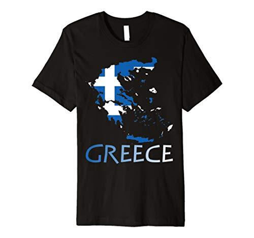 Greece Griechenland Flagge Karten T-Shirt