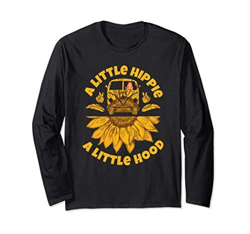 Hippie Friedensweinlese Retro Kostüm Geschenk Langarmshirt