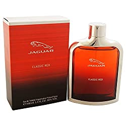 Jaguar Classic Red Eau de Toilette Spray for Men, 3.4 Ounce (Pack of 5)