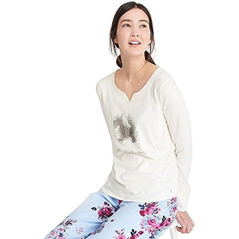 Joules Womens/Ladies Nita Stampa Grafica manica lunga pigiama, donna, Creme,