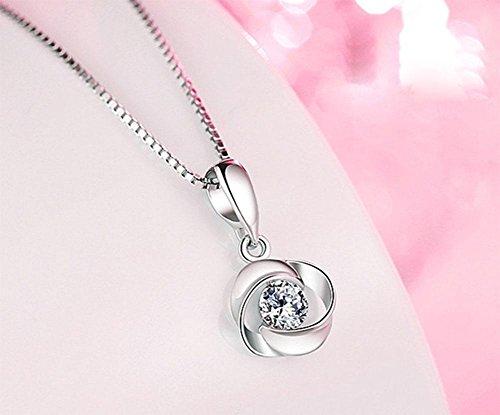 MEILI Silberne Halskette weibliche kurze Schlüsselbein Kette einfache Anhänger Halskette