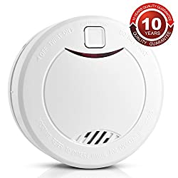 Apriller Fire Detector Smoke Alarms 10 Year Battery Operated Fire Safety Fire Alarms For Home Bedroom Living Room Hotel School Warehouse etc, 1 x Pack by HEIMAN