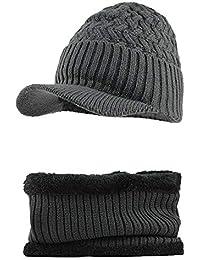 JUTOO Vente de Liquidation Hommes Chaud Baggy Weave Crochet Hiver Laine  Tricot Bonnet de Ski Bonnet b1c86273032