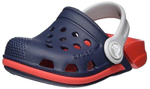 Crocs Electro III Clog Kids, Unisex - Kinder Clogs, Blau (Navy/flame), 32/33 EU32/33 EU