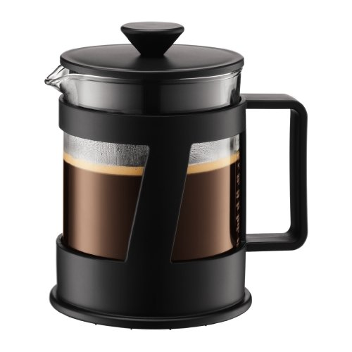 Bodum CREMA Kaffeebereiter (French Press System, Permanent Edelstahl-Filter, Sicherheits-Deckel, 0,5 liters) schwarz Test