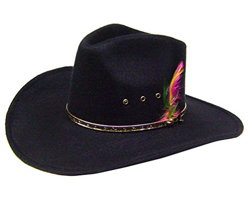 modestone-boys-akubra-cattleman-faux-felt-chapeaux-cowboy-54-for-small-heads