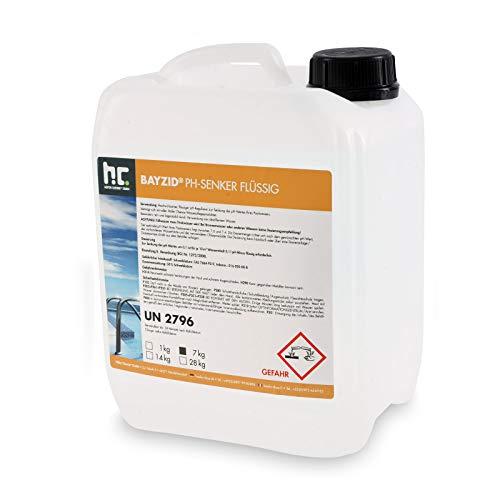 Höfer Chemie 4 x 7 kg pH Senker flüssig zur Senkung des pH Werts im Pool - pH Minus für Schwimmbad und Spa -