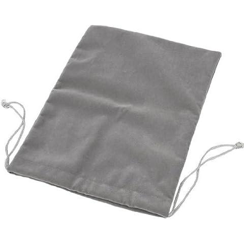 Caso del lazo gris oscuro suave terciopelo bolsa bolsa para 10