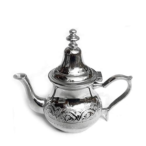 Moroccan Palais Teapot Silver Height 16 cm Handmade Oriental Moroccan Tea Pot or Coffee Pot