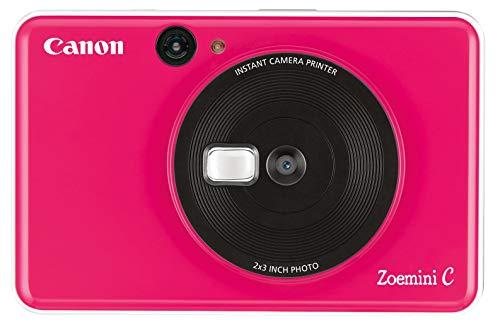Canon Zoemini C eingebauter Mini-Fotodrucker (5 MP Sofortbildkamera, Blitzlicht, Selfie Spiegel (11x8mm)) pink