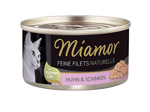 Miamor Feine Filets naturelle Huhn & Schinken, 24er Pack (24 x 80 - Katzenfutter Verstopfung