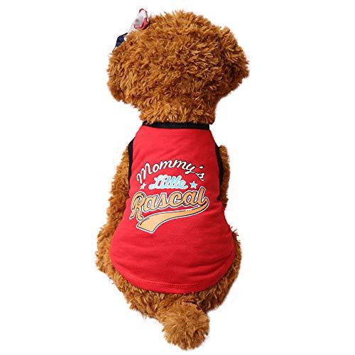 Kostüm Maker - Bekleidung für Haustier Hunde Bekleidung T Shirts Trouble Maker Drucken Mini Hündchen Hund Kostüme Pullover Shirt Kleine Hunde Welpe Mantel für Katzen Kleine Hunde Chihuahua Teddy Pudel