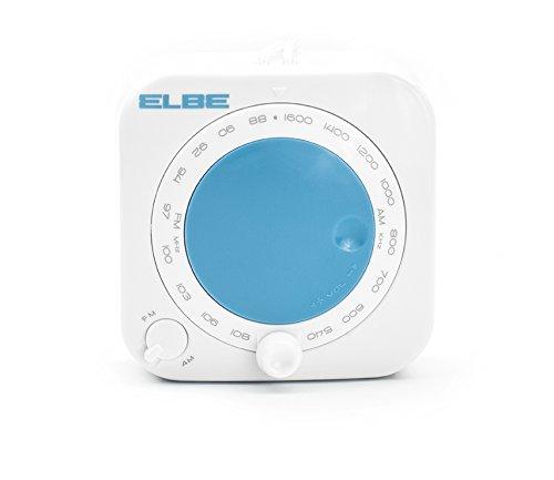Elbe DR-1888 - Radio de Ducha sin Ventosa Color Blanco