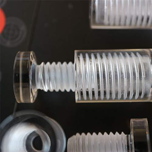 4 x Klare Abstandshalter, glasähnlich, Acryl, transparente Abstandshalter, Kunststoff, Wandmontage, Displayschilder, Halterungen für Durchgangslochplatten, beständig gegen Wasser Korrosion, 13mmx19mm -