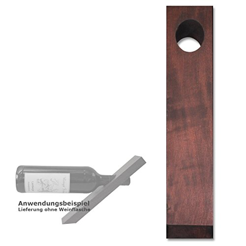 Weinflaschenha lter Magic Balance Weinregal Weinhalter magisch Holz (16290 Birke mahagoni gebeizt) - Mahagoni Gebeizt