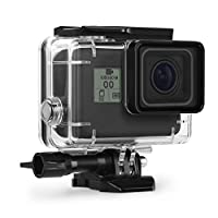 Waterproof Case for GoPro Hero 7 Black Hero 5/6 Accessories Housing Case Diving Protective Housing Shell 45 Meter for Go Pro Hero7 Hero6 Hero5 Hero 2018 Action Camera with Bracket Accessories