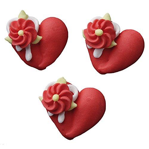 hzeit Zuckerherzen mit Blume 12 STÜCK (Sweet Sixteen Tisch Dekorationen)