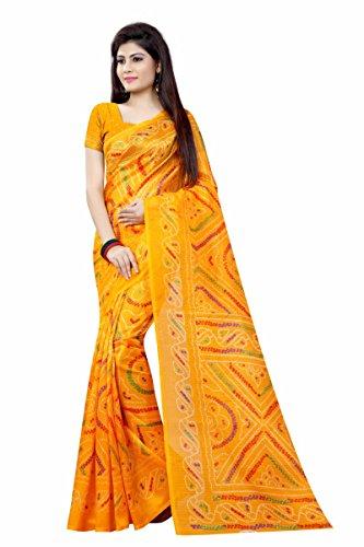 Shivalika Tex Bagalpuri Saree (188_Bandhani_Yellow_Yellow)