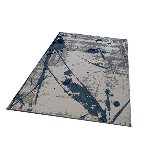 Teppiche Dicke 7mm Flansch Kristall Samt 3D reaktive Färben weiches Gewebe Lint abstrakt blau Marmor Muster Kurze Haare Gute Pflege Wasser waschbar Futter (größe : 1.2x1.6m)