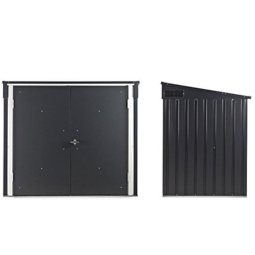 Duramax 5x 3ft Mülleimer Store–Anthrazit Grau/aus weiß - 3