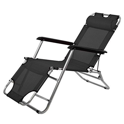 Liegestuhl-SALVO-mit-Klappfunktion-in-vielen-Farben-Klappliege-mit-Doppelfunktion-als-Liege-oder-als-Stuhl-verwendbar-FarbeTitanschwarz