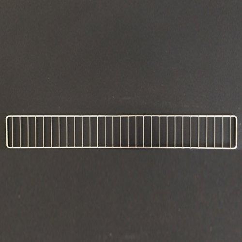 Artikelbild: 1 Stück Tegometall Frontgitter L 125 H 9,5 cm verchromt Art.: 14420238