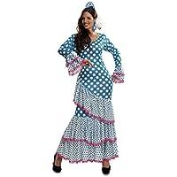 My Other Me - Disfraz de Flamenca, talla XL, color azul (Viving Costumes MOM01113)