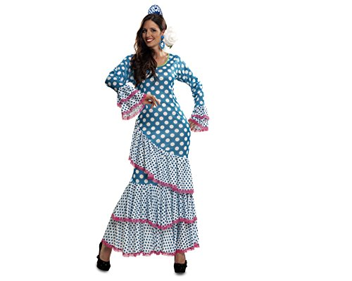 Imagen de my other me  disfraz de flamenca, talla xl, color azul viving costumes mom01113