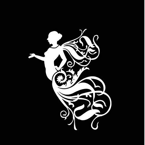 Wymw 5pcs 13.6 * 16.5Cm Abstraktes Künstlerisches Schönes Engels-Abziehbild, Welches Das Körper-Schattenbild-Auto-Aufkleber-Vinyl Bedeckt