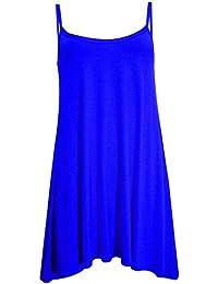 Neue Frauen Plus Size Hanky Cami Swing-Sleeve Weniger Weste-Kleid 36-50