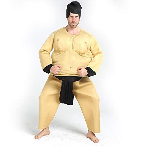 Hualieli Aufblasbare Sumo Wrestling Fat Suit Wrestling Fat Suit Fettleibige Kleidung Halloween Kostüm Blow Up Lustige Neuheit - Fat Suit Kostüm Tanz