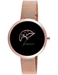 Giordano Analog Black Dial Women's Watch-C2118-44