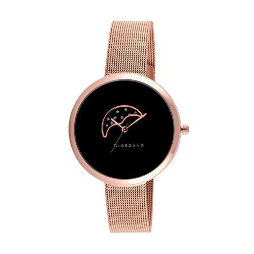 Giordano Analog Black Dial Women's Watch-C2118-44