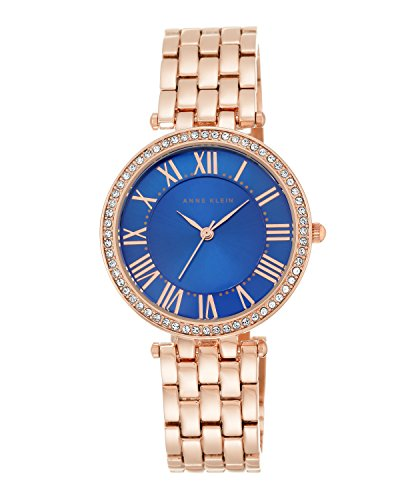 anne-klein-womens-elisa-quartz-watch-with-blue-dial-analogue-display-and-rose-gold-alloy-bracelet-ak