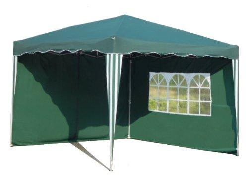 Kronenburg Falt Pavillon Dachmaß 3 x 3 m grün mit 2 Seitenteilen
