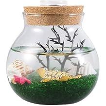 POPETPOP pecera acuática, acuarios, Plantas, Peces, Burbujas, decoración de Mesa,