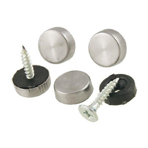4Stück Metall 14mm Dia Caps Spiegel Schrauben Set für Badezimmer